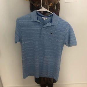 Boys Lacoste 🐊 polo shirt 16 EUC 100% Cotton blue
